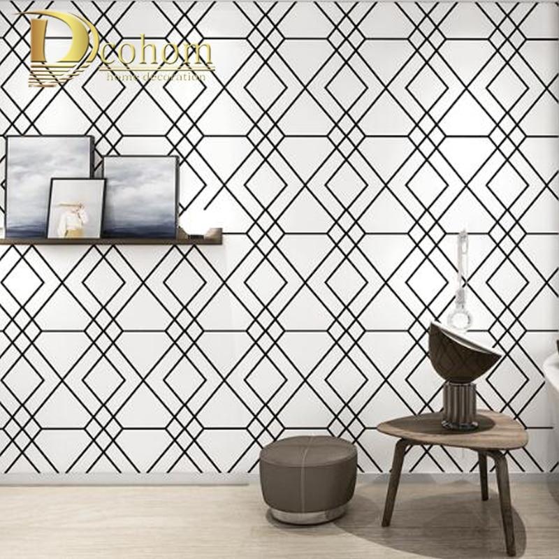 Papier peint pour salon bureau papier peint rouleau moderne géométrique papier peint ligne graphique papier peint décor à la maison