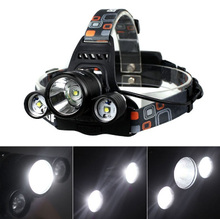 6000LM 3x CREE XM-L T6 LED 18650 Headlamp Headlight Head Torch Light Lamp for Outdoor Sport  Hunting