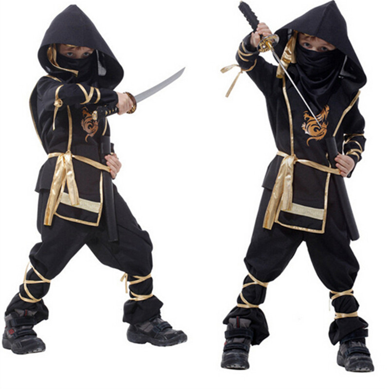 Cosplay Costume Classic Halloween Cos Martial Arts Ninja Costumes For Kids Posh Party Decoration Supplies Children Gifts YW014