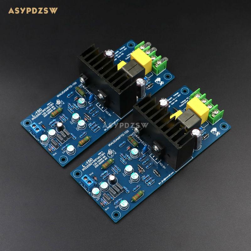 2 Channel L15D Digital power amplifier IRS2092 IRFI4019H Stero amp finished board (2 boards) 2 channel l20 se power amplifier finished board transistor amplifier kit a1943 c5200 350w 350w