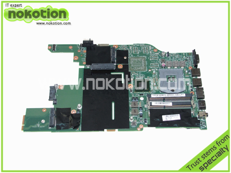 NOKOTION 04W0398 48.4MI04.021 for Lenovo Thinkpad Edge E520 DDR3 Laptop Motherboard HM65 GMA HD 3000 DDR3 Mainboard for lenovo thinkpad x200 intel gm45 motherboard 43y9980 48 47q06 031 intel gma x4500