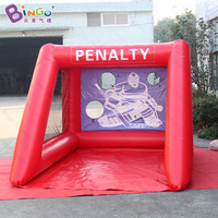 PVC material 2.5X3.5X2m Inflatable soccer goal for sale advertising type blow up football shooting games for kids outdoor toys