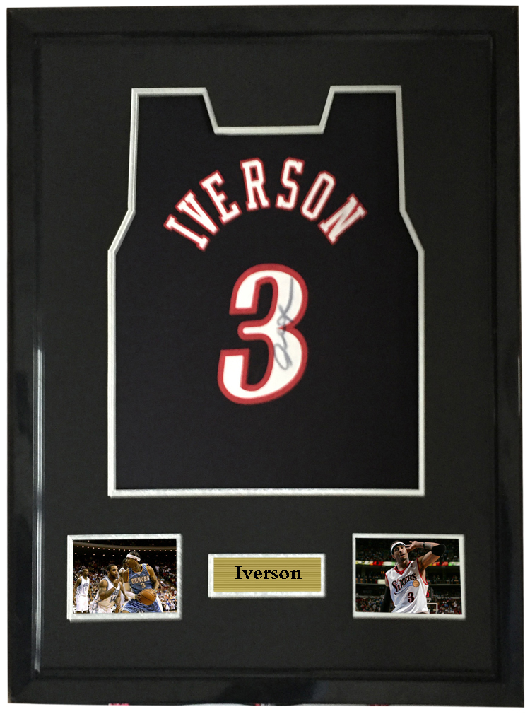 378c6e14a37 Allen Iverson signed autographed basketball shirt jersey come with Sa coa  framed