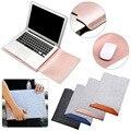 Шерстяной войлочные сумки для ноутбука из искусственной кожи  для Macbook Air Pro 11 13 15  сумка для ноутбука  чехол для ноутбука  Компьютерная сумка ...