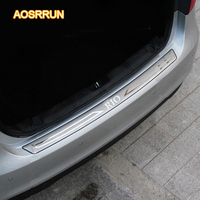 Free Shipping Stainless Steel Inner Rear Bumper Protector Sill Car Accessories Trunk Trim For Kia Rio