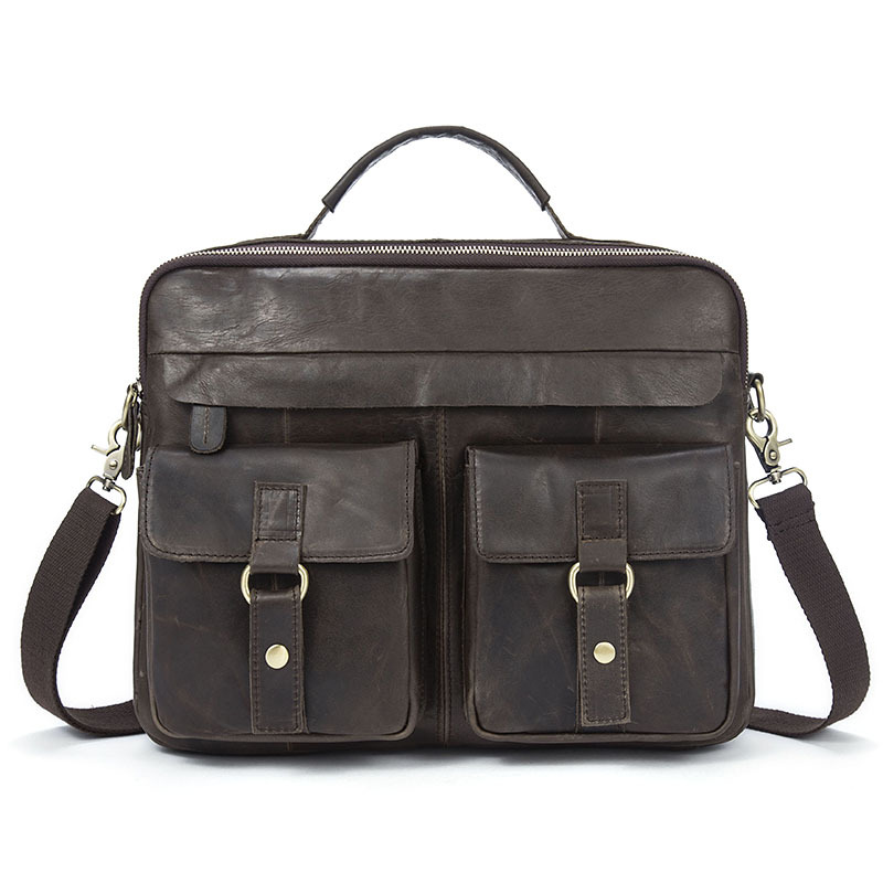 Genuine Leather Handbag For Men Business Briefcase Casual Crossbody Bag Messenger Bag High Quality Computer Bag mva men genuine leather bag messenger bag leather men shoulder crossbody bags casual laptop handbag business briefcase