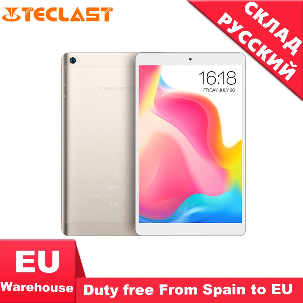 Teclast P80 Pro Android 7.0 MTK8163 Quad Core tablette PC 3GB RAM 32GB ROM 1.3GHz double WiFi GPS HDMI double caméras 1920*1200