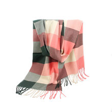 98de6382fec7e Tassels Shawl Striped Imitation Cashmere Rectangle Scarf Air Conditioner  Shawl wool red plaid women scarf pashmina wrap snood