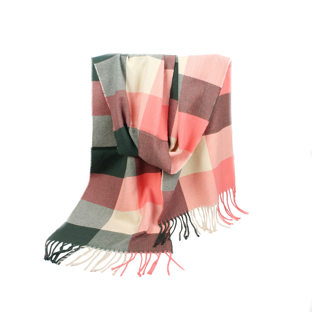 Birtish and France Retro Flag Cashmere Scarf Shawl Wraps Super Soft Warm Tassel Scarves For Women Office Worker Travel