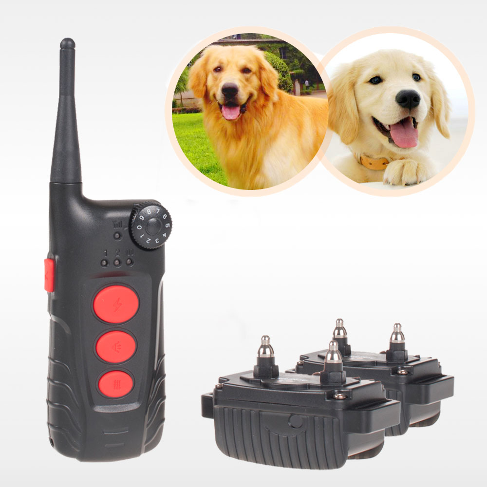 Free shipping Aetertek At 918c 100 Waterproof Rechargeable Dog Training Shock Collar 600 Yard Auto Anti