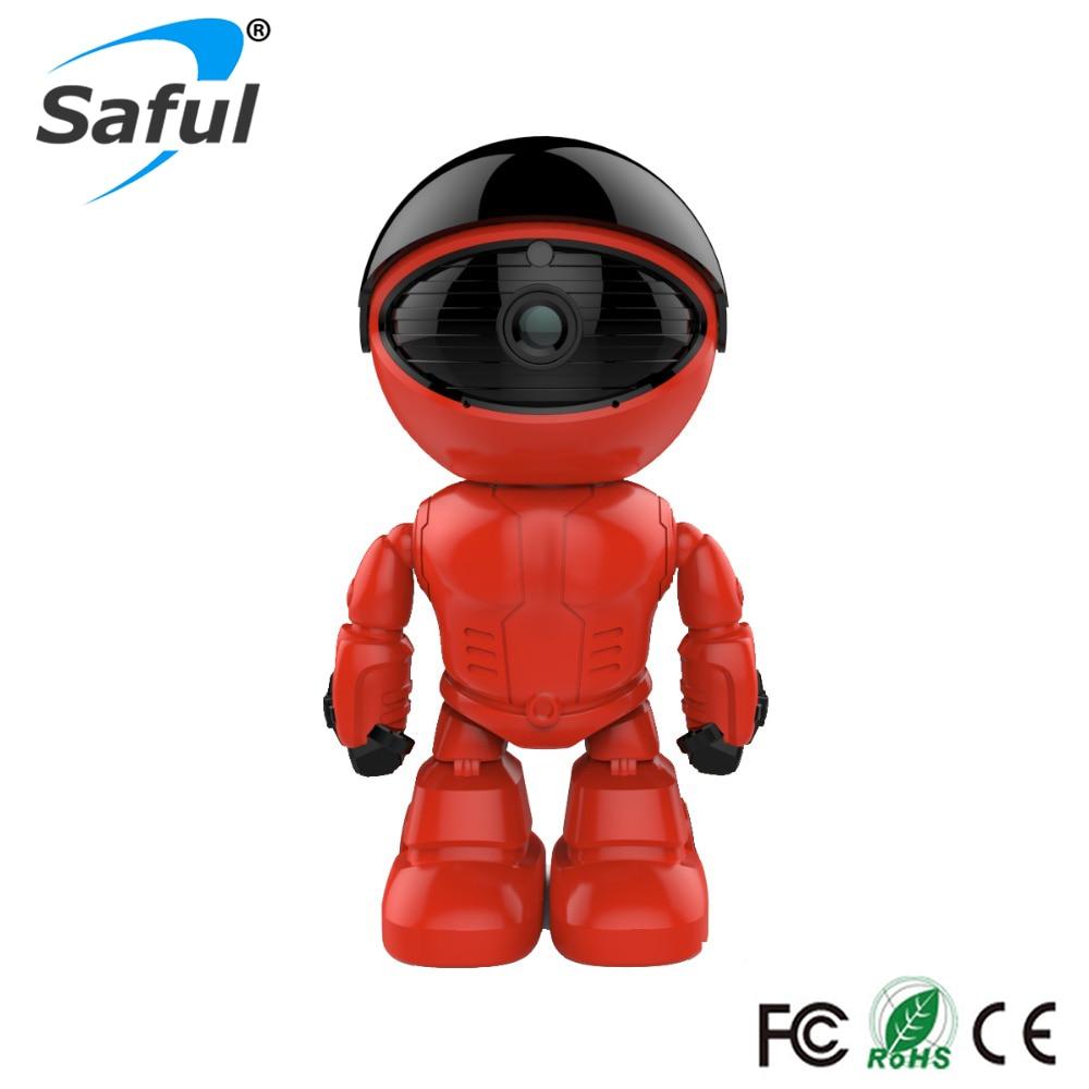 Saful IP Camera HD Robot Wifi Wireless 1.3MP P2P Plug Play Pan Rotation and Two Way Audio rotation movements of robot manipulators in 1