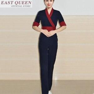 Image 2 - Uniforme para masaje uniformes de camarera, matorrales, salón de spa, conjuntos de belleza para enfermera, esteticista, uniforme para masaje tailandés s FF617 A