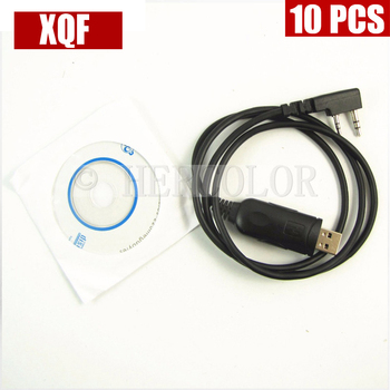 XQF 10PCS  USB Programming Cable For KENWOOD TK2100 TK3207 KPG-22 BAOFENG UV-5R Two Way Radio