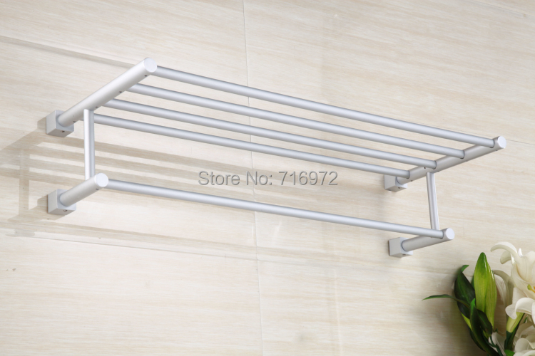 ФОТО Free Shipping Wall Mounted Space Aluminium Towel Racks,Towel Rail, Towel Holder,Bathroom Accessories-Wholesale-5127