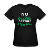 Funny No Talkie Before Coffee Raglan T Shirt Summer Women S Tops Streetwear Cotton T Shirt