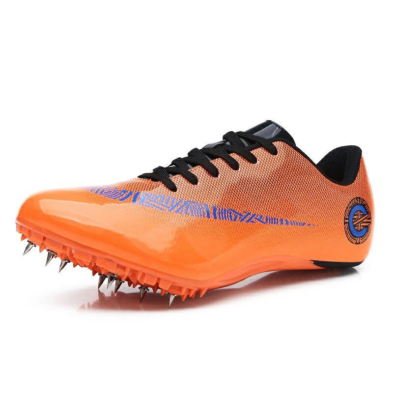 Мужская обувь для спортзала зеленого и синего цвета, легкие кроссовки для бега, мужские кроссовки с шипами, спортивная обувь унисекс для гонок, 35-45