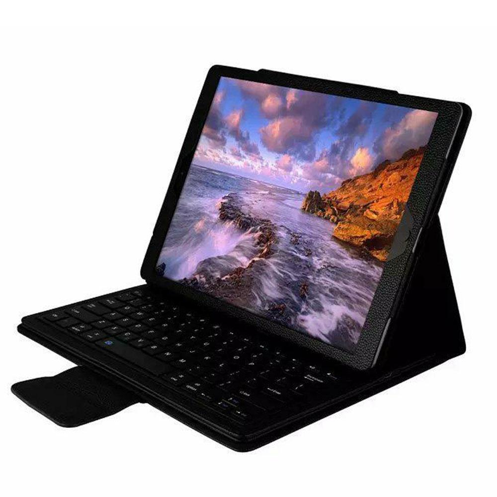 BT3.0 беспроводная клавиатура-Чехол клавиатура Bluetooth крышки дело IOS ультра тонкий для IPad 12,9 дюйма Беспроводной - Цвет: black