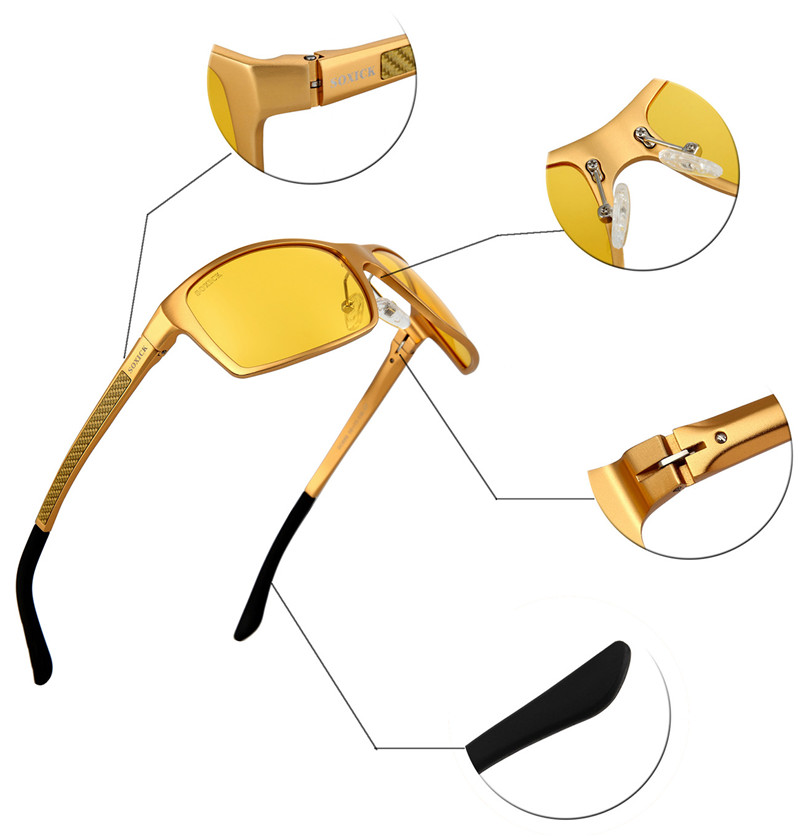 3e6d286202 SOXICK Brand Eyewear with Case Yellow Lens Night Vision Sunglasses for Men  Women Safety Anti Glare Driving Sun Glasses Best Gift-in Sunglasses from  Apparel ...