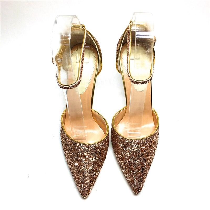 Mb夏新しい靴女性サンダルクリスタルシニーハイヒールサンダル甘い女性の靴  グループ上の 靴 からの レディースパンプス の中 3