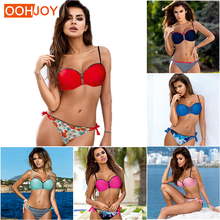 New Sexy Print Bikini Women Swimsuit Girl Micro Strappy Bandage Swimwear S-2XL Adjustable Straps Bathing Suit