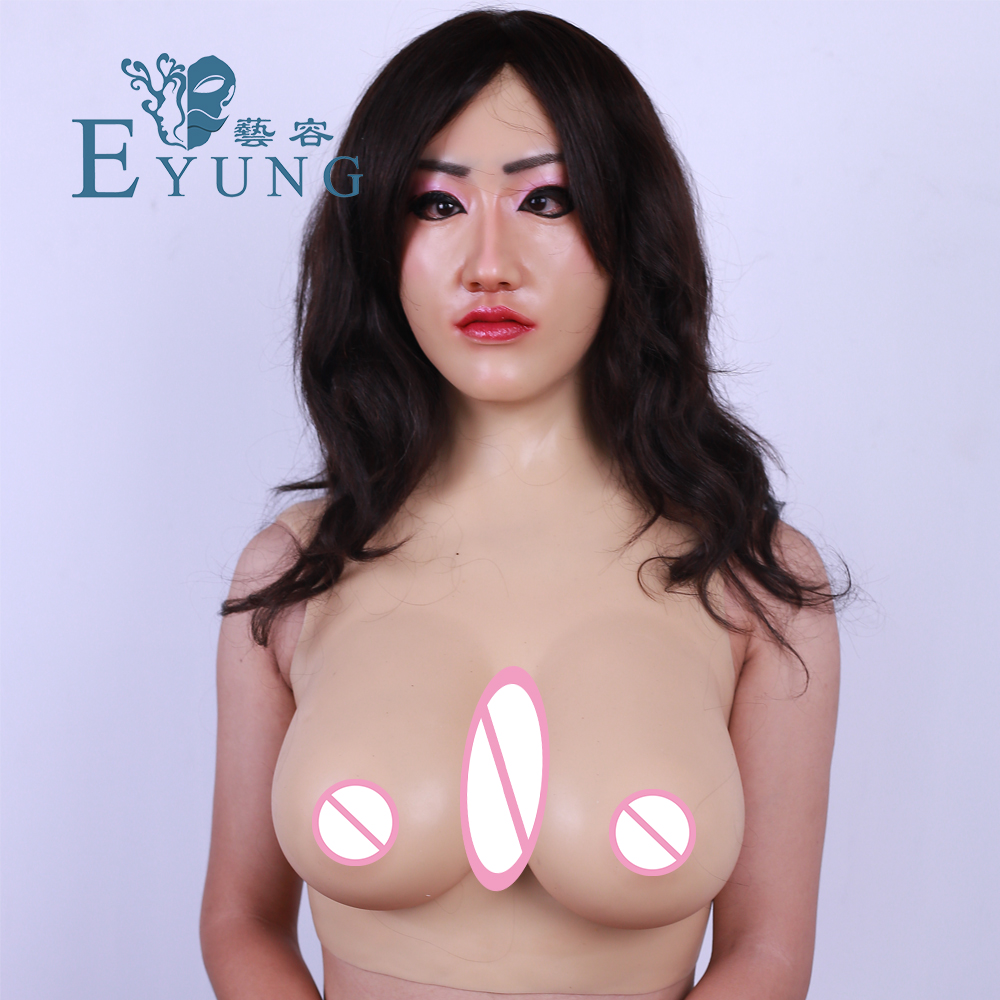 YR-HCS-Shivell Perfect G Cup Realistic Silicone Breast Forms Transgender Artificial Boobs male to female shemale crossdresser вранье