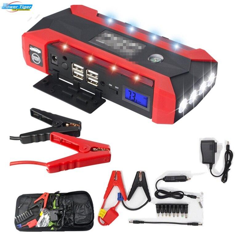 HCOOL Démarreur Voiture De Saut 600A Pic 20000 mAh Portable Auto Batterie Alimentation Téléphone Puissance Banque Chargeur Pour Batterie De Voiture Booster