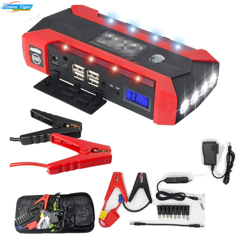 Super Power Car Jump Starter Power Bank 600A Portable Car Battery Booster Charger 12V Starting Device Petrol Diesel Car Starter 89800mah car jump starter 12v 4usb 600a portable car battery booster charger booster power bank starting device car starter