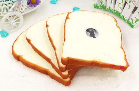 Free shipping 4pcs/lot toast bread Artificial Foods Fridge Magnets - Home Decor