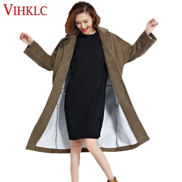 2018 зимние кашемировое пальто Офисные женские туфли утолщение Теплая парка  большой Размеры Парадное 67d551d42a5d9