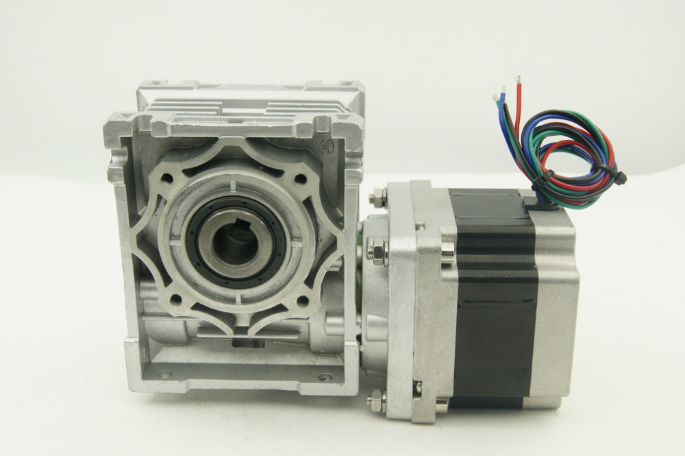 Nema34 Worm gearbox stepper motor 5:1/10:1/15:1/20:1/25:1/80:1/100:1 worm reducer ratio motor length 65mm with output shaft