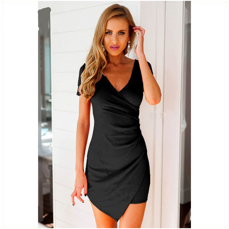 summer dresses casual 2016 for women bodycon short sleeve ...