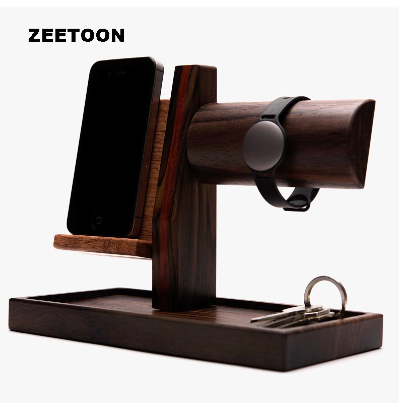 Handmade Wood Mobile Phone Holder Multifunction Desktop Removable Car Vintage Home Office Storage Decor IPhone Watch Key Hanging mobile phone