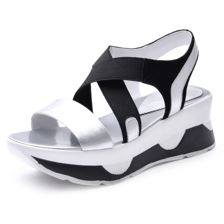ФОТО Flat Platform Mixed Colors Women's comfortable Casual shoes Rome style Summer new 2017 ladies Wedges sandals for women