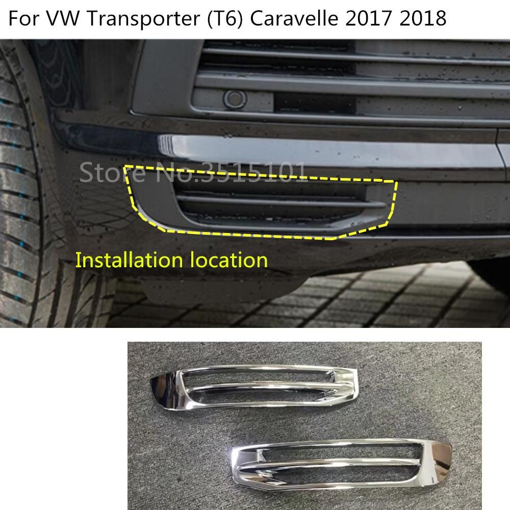 For Transporter T6 2017-2019 ABS Chrome Rear Tail Light Lamp Cover Trim 2pcs Car Stytle Accessoies