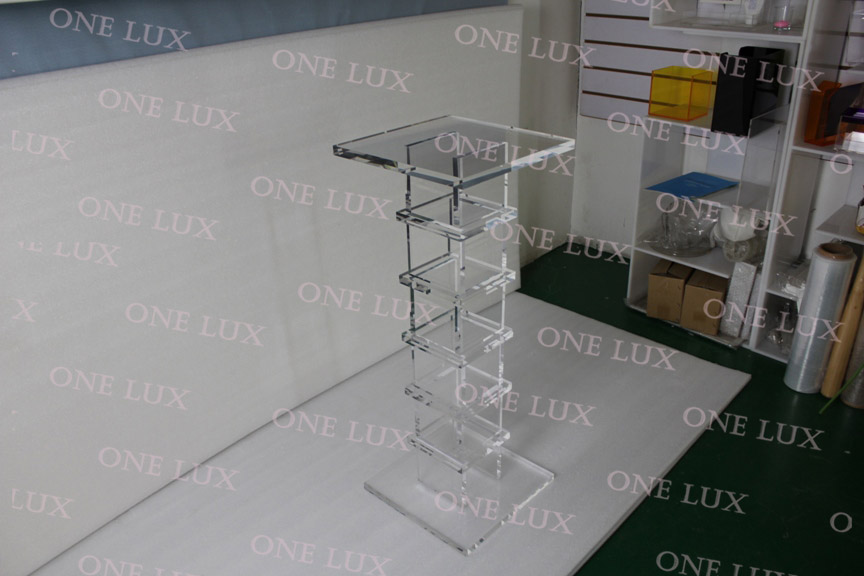 Купить с кэшбэком Clear Acrylic Pedestal,Quality Lucite sculpture stand,Square  Console Tables ONE LUX
