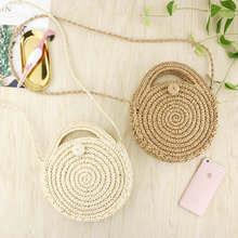 Специальное лечение! Льготная цена Соломенная пляжная сумка мини сумки для женщин s ротанга кошельки Бали богемный женский