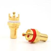Free shipping 8pieces High Performance RCA Terminal Sockets HIFI RCA Socket RCA JACK Adapter