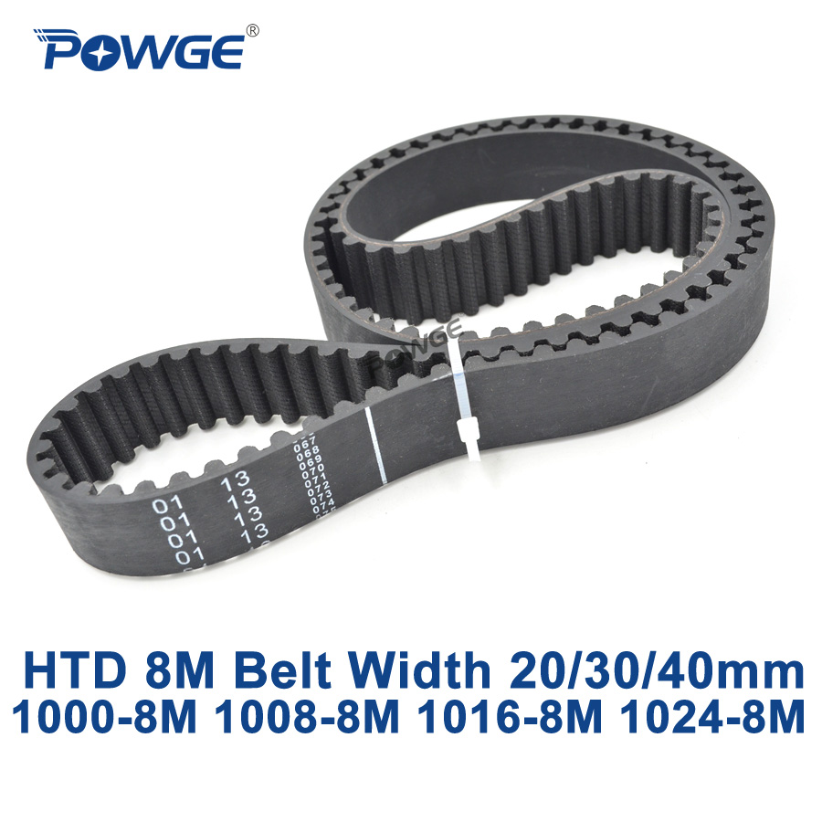 POWGE HTD 8M synchronous Timing belt C=1000/1008/1016/1024 width 20/30/40mm Teeth 125 126 127 128 HTD8M 1000-8M 1016-8M 1024-8M powge htd 8m synchronous belt c 520 528 536 544 552 width 20 30 40mm teeth 65 66 67 68 69 htd8m timing belt 520 8m 536 8m 552 8m