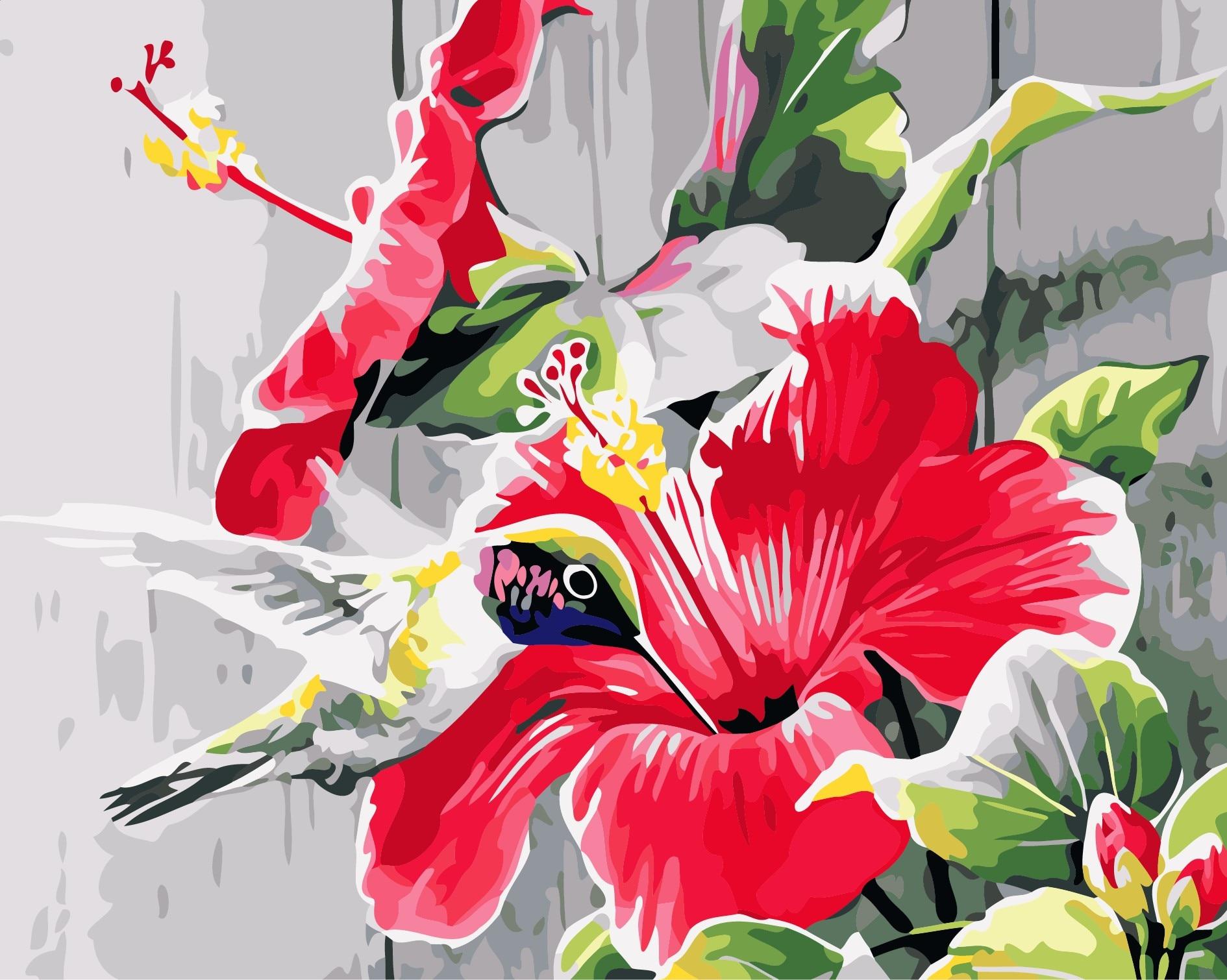 ltimo estilo moderno colibr diy pintura al leo by nmeros de animales sin marco de