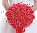 Кристаллы Жемчуг Цветы Розовый Фиолетовый Красный Свадебный Букет Большой Свадебный Букет С Лентой Оркестра
