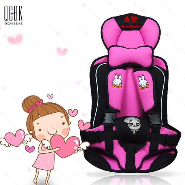 Portable Child Car Safety Seats Five-Pionts Children's Chairs Updated Version Cotton Baby Car Seat Four Colors Siege Auto Enfant