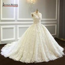Robe de mariée en dentelle, superbe et luxueuse, nouvelle collection
