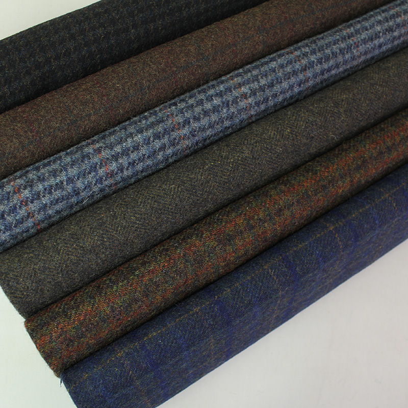houndstooth 100% wool Twill tweed wool fabric use suit
