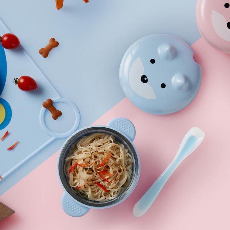 Image 2 - Xiaomi Safety Silicone Baby Feeding Food Tableware Cute Cartoon Bowl Spoon Set Microwavable Kids Dishes Dinnerware For Baby Kids-in Smart Remote Control from Consumer Electronics