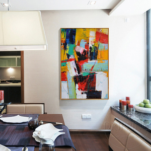 Image 2 - Fashion Wall Art Hand painted Rich Colors Abstract Oil Painting on Canvas Big Brush Knife Abstract Oil Painting for Living Room