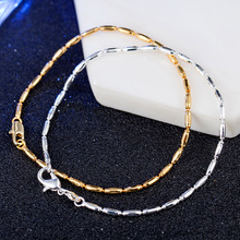 Simple Olive bead Chain Bracelet Bangle For Woman Silver/gold color Cuff Jewelry Gift Drop shipping Wholesale