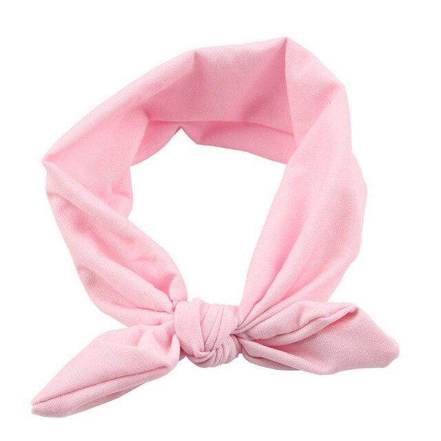 Fashion   Kids Girls Rabbit Bow Ear Hairband candy color cute Headband Turban Knot Head Wraps hair accessories TONSEE #28