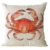 Sea Animal Series Cotton Linen Fabric Home Sofa Car Decorative Cushion Throw Pillow