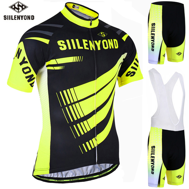 d3e8138c8 SIILENYOND Summer Cycling Clothing Short Sleeve Mountain Bike Jersey Racing Bicycle  Clothes Cycling Set