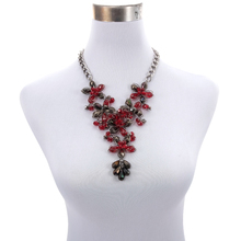 BeUrSelf Statement Crystal Necklace for Women Glass Crystal Beaded Ethnic Flower Necklace Luxury Fashion Jewelry Dropshipping цена